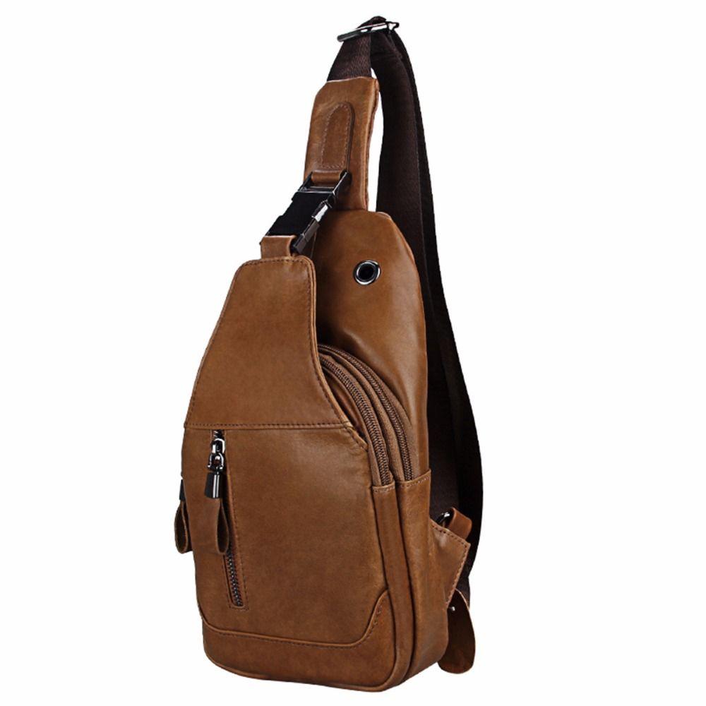 Etaofun enuine Borsello in pelle Borse del messaggero degli uomini di piccolo di spalla sacchetto della cassa Borse posteriori Day Travel Pack Vintage