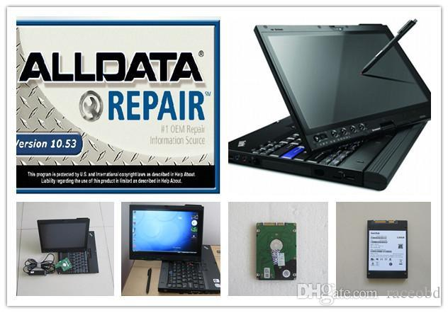 Alldata in laptop all data 10.53 ATSG with COMPUTER 1tb hdd installed in x200t ready to work WINDOWS 7