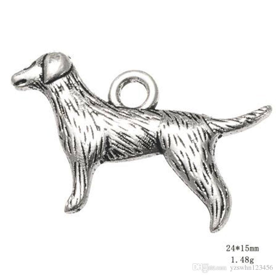 Античный Посеребренные Новый Милый Животных Собака Pet Шарм Продажа Дешевые Ювелирные Изделия Подвески Браслет Подарки
