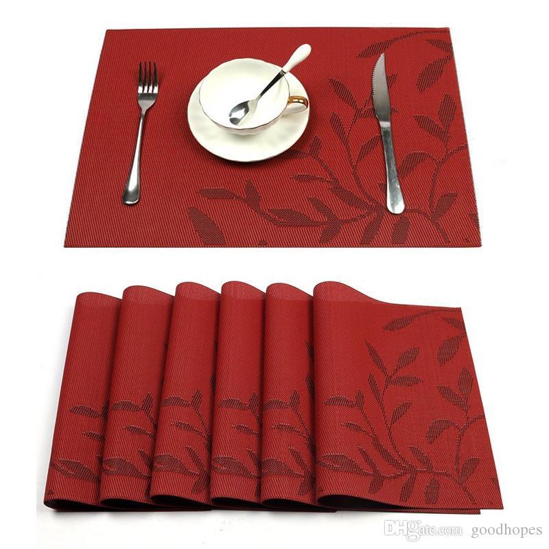Lavável Placemats Jantar Tabela De Mesa De Mesa Calor Isolamento Resistente Tecido De Vinil Tabela De Vinil Placemat Dinner Plate Bancada