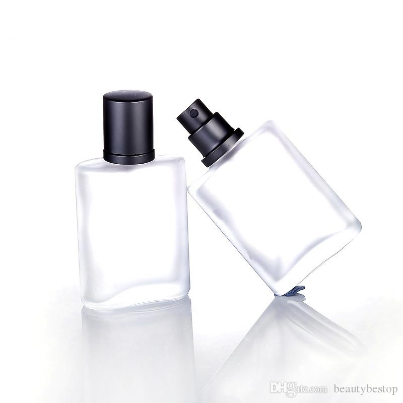 100pcs 30ml Empty Refillable Portable Perfume Bottles &Traveler Glass Spray Atomizer Transparent Frosted Parfum Bottles For Sale DHL Free