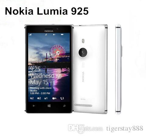 Refurbished Original Nokia Lumia 925 Windows Phone 4.5 inch Dual Core 1GB RAM 16GB ROM 8.7MP 4G LTE Unlocked Smart Phone Free Post 1pcs