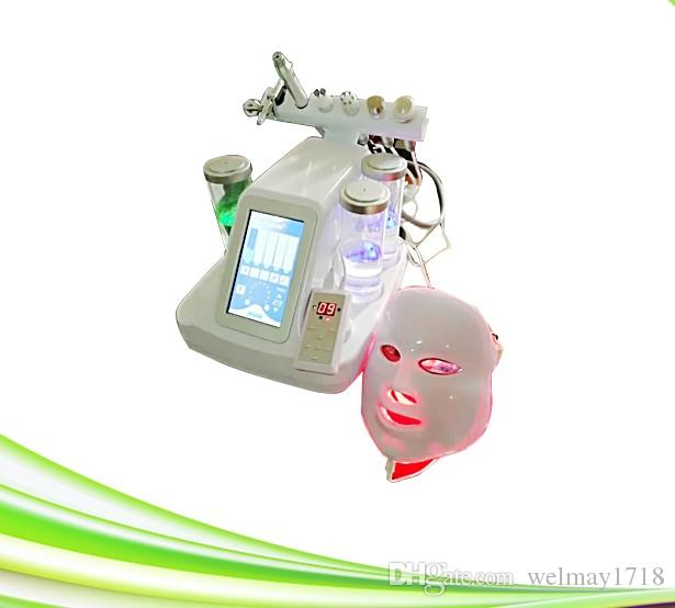 7 em uma máscara e levou microcorrente multipoalr rf facial diamante máquina dermabrasão rejuvenescimento da casca do diamante máquina dermabrasão