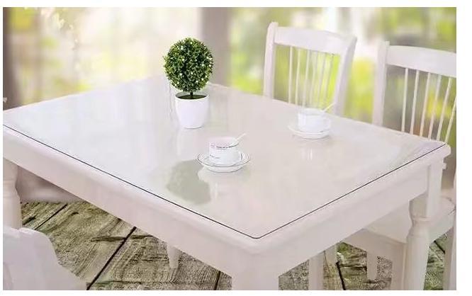 شفاف مسح الغلاف النظيفة مفرش المائدة حصيرة PVC زجاج تأثير حماية الجدول