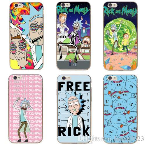 sneakers for cheap ff4e3 7e663 Rick And Morty Phone Case Cover For IPhone 7 Plus 6S 6 Plus 5S 5 SE 8 8Plus  X 10 Transparent Hard Coque Capa Case Reiko Cell Phone Case Western Cell ...