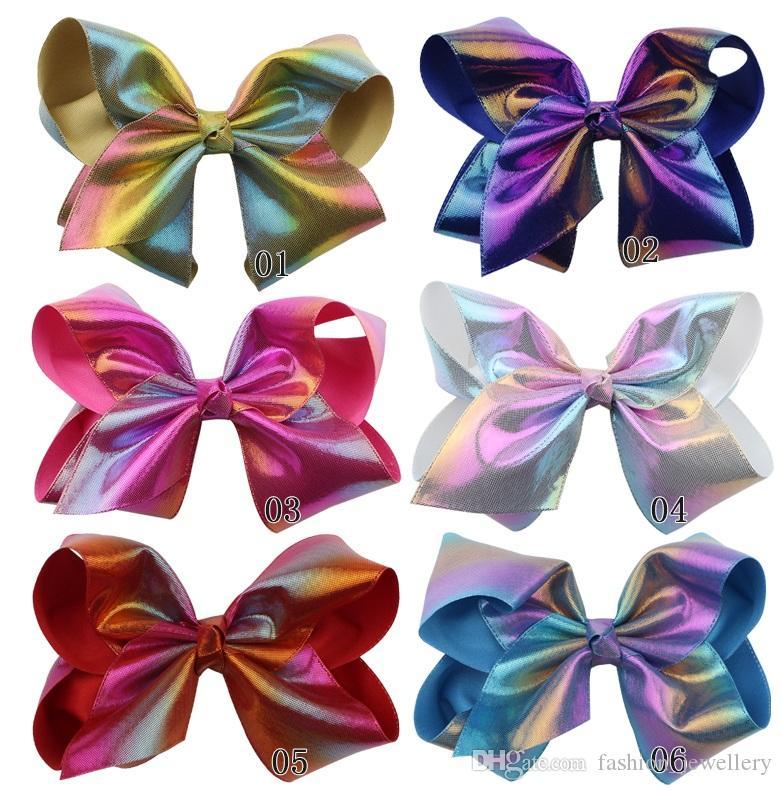 6 pçs / lote novo 8 polegada grandes arcos grampos de cabelo colorido gradiente carnaval festa festival cabelo arco halloween acessórios para o cabelo para meninas