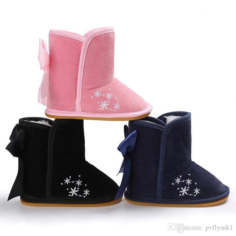 Children Boots Baby Shoes Kids Soft Rubber Sole Booties Winter Girl Boy Anti-slip Outdoor First Walker Toddler Infant Babe Shoes