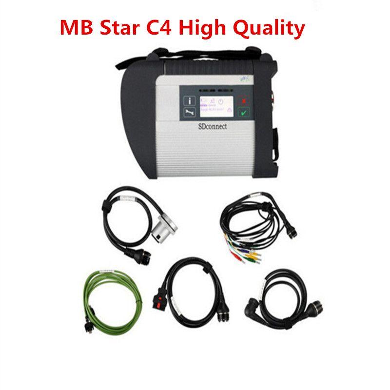 2018 MB Star C4 Sd Conectar para o caminhão do carro do Benz Auto-ferramenta de diagnóstico (12V + 24V) sem software com suporte técnico