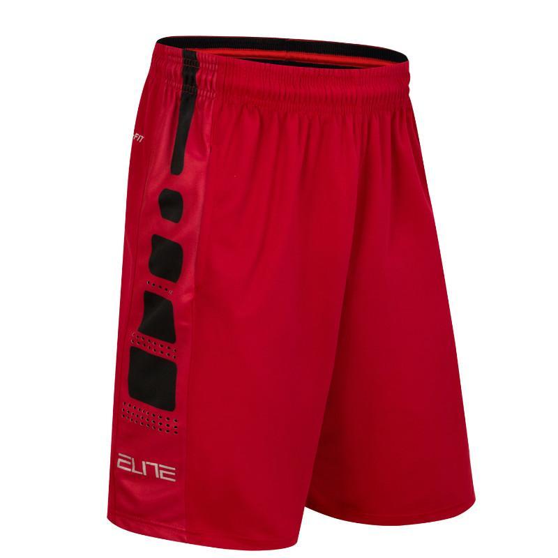 Bolso elástico Camisa de Futebol Cesta Sportswear Solto Esporte Shorts dos homens de Fitness Tênis Homens Zipper Shorts de Basquete