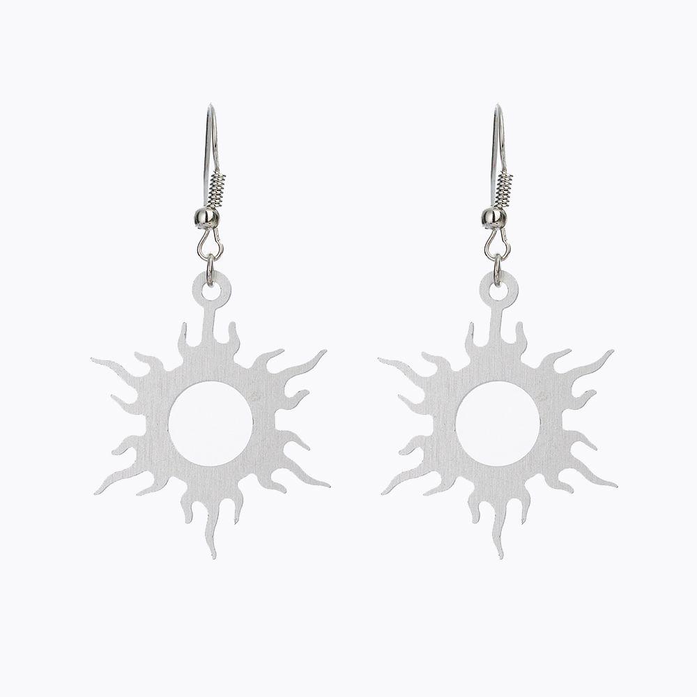 Punky Sun Sunshine forma pendientes con estilo de aleación de aluminio Irregular de Metal gancho pendientes para mujer chica joyería
