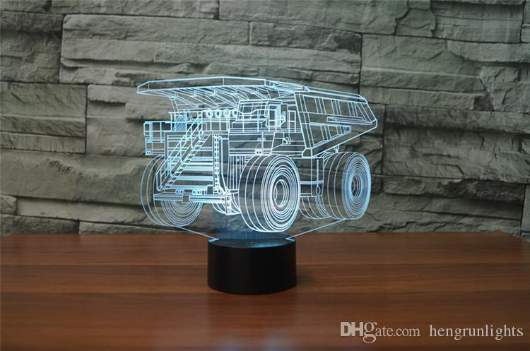 3D Night Light Illusion LED touch Table Lamp 7 Colors USB Novelty Luces Car Shape Bedside Nightlight Lamps boy gift