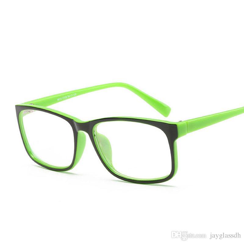 04a07eadd Compre Designer De Marca Espetáculo Óculos Ópticos Quadro Simples Anti  Radiação Óculos De Computador Óculos Armações Para Mulheres Oculos De Grau  De ...