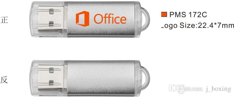 Bulk 50pcs Printed Custom logo USB 2.0 Flash Drive 1G 2G 4G 8G 16G Rectangle Engraved Personalize Memory Stick Pendrives for Computer Laptop