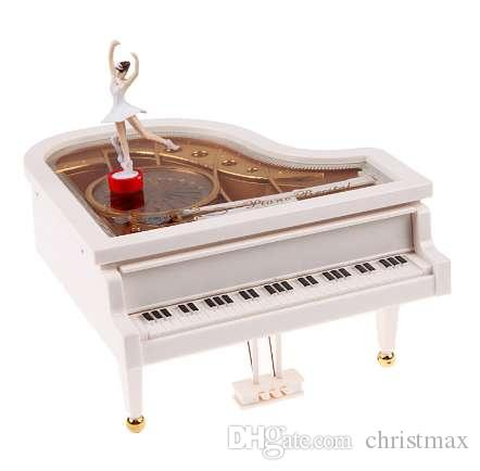 Piano Music Toy Clockwork Type Rotary Classical Ballerina Girl On The Piano Music Toy Baby Girl Birthday Gift Figurines Toy