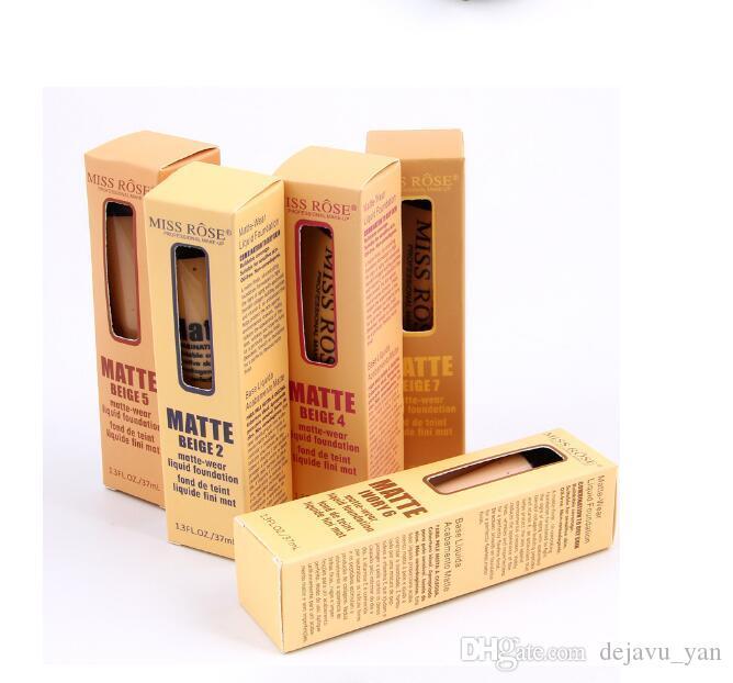 كريم الأساس المخفي السائل من ميس روز بروفيشنال 37 مل سيلك لونج لاستنج كريم 10 ألوان مختلفة لإنشاء بشرة خالية من العيوب