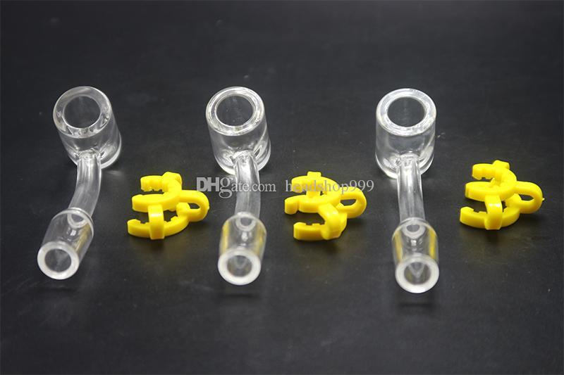 4 millimetri di spessore 45 gradi 10 millimetri 14 millimetri 18 millimetri quarzo Tip Nail quarzo per DAB Rig Oil Rig Miele di vetro paglia tubo di acqua fumatori Accessaries