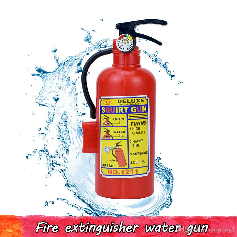 1 Pcs Fire Extinguisher Water Gun Toy Home Children's Plastic Toys Novelty Mini Fire Extinguisher Spray Style Trick Toys for Outdoor Game