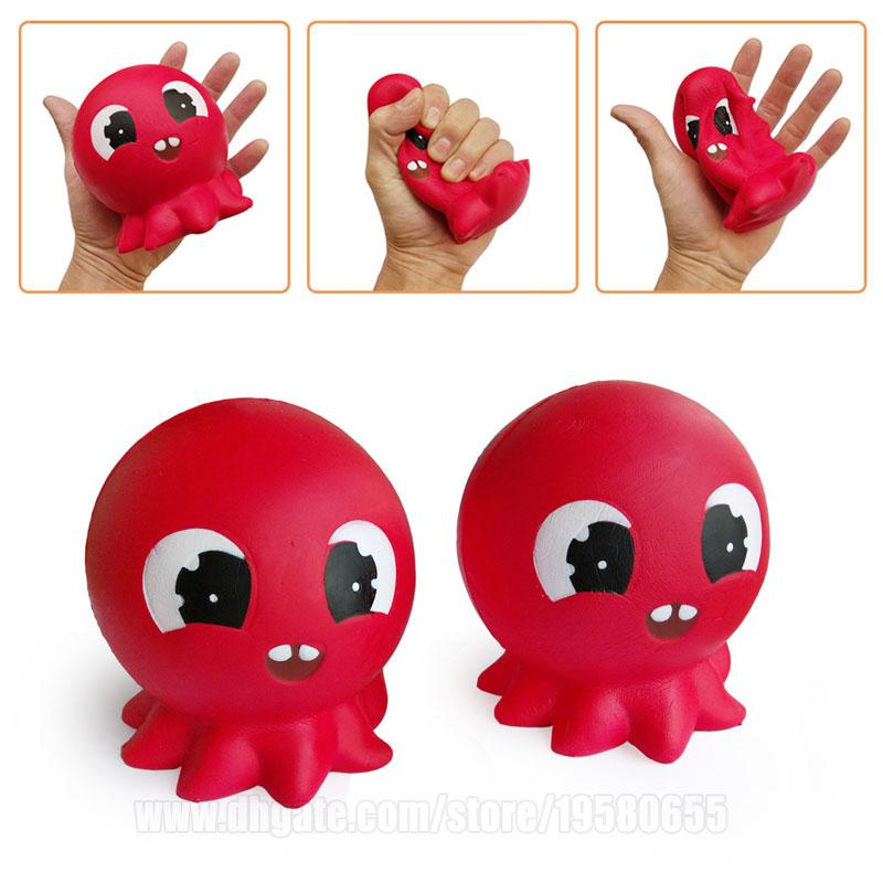 Octopus Squishy Animal Red Squishies Toy Big Slow Rising