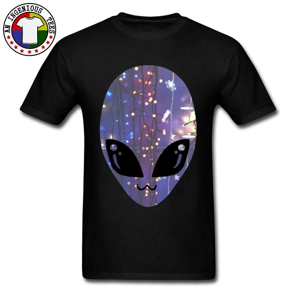 Drak Green Man Tops & Tees Cheap Short Sleeve Mens T Shirts Brand New Autumn Top T-shirts Round Collar Alien Face Printed Tees