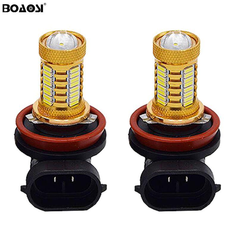 Bright White Error free H11 H8 9006 HB4 4014 32SMD LED projector Fog Drl Light Lamp bulb