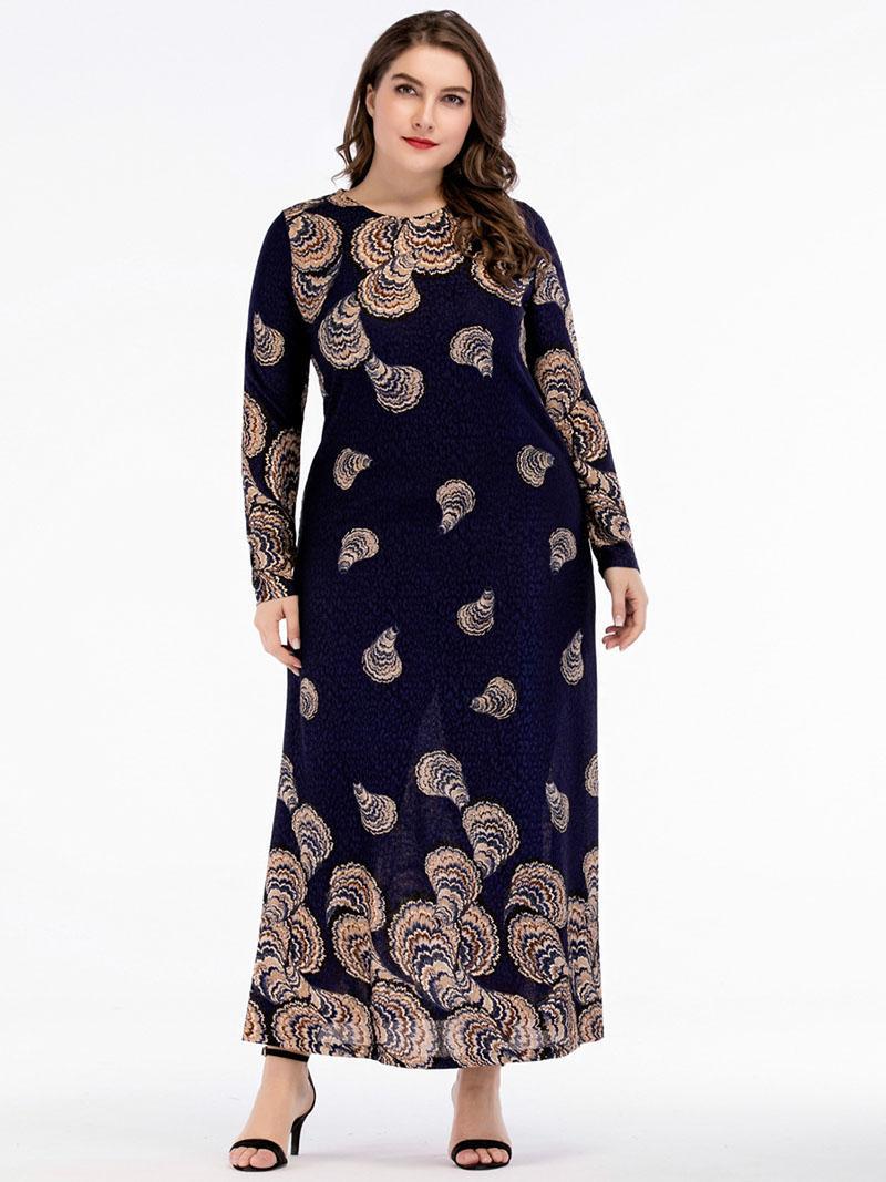 Le donne vestono abiti lunghi Camicie slim maniche lunghe a maniche lunghe Large XXXXL Abbigliamento casual scuro donna di mezza età