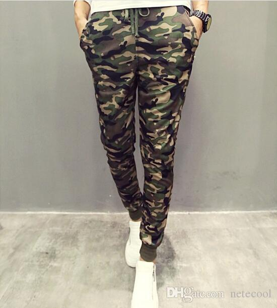good quality buy popular 50-70%off 2019 Men Casual Pants New Camouflage Slim Fit Army Camouflage Trousers  Pencil Camo Pants Hip Hop Sweatpants Military Mens Joggers High Elastics  From ...