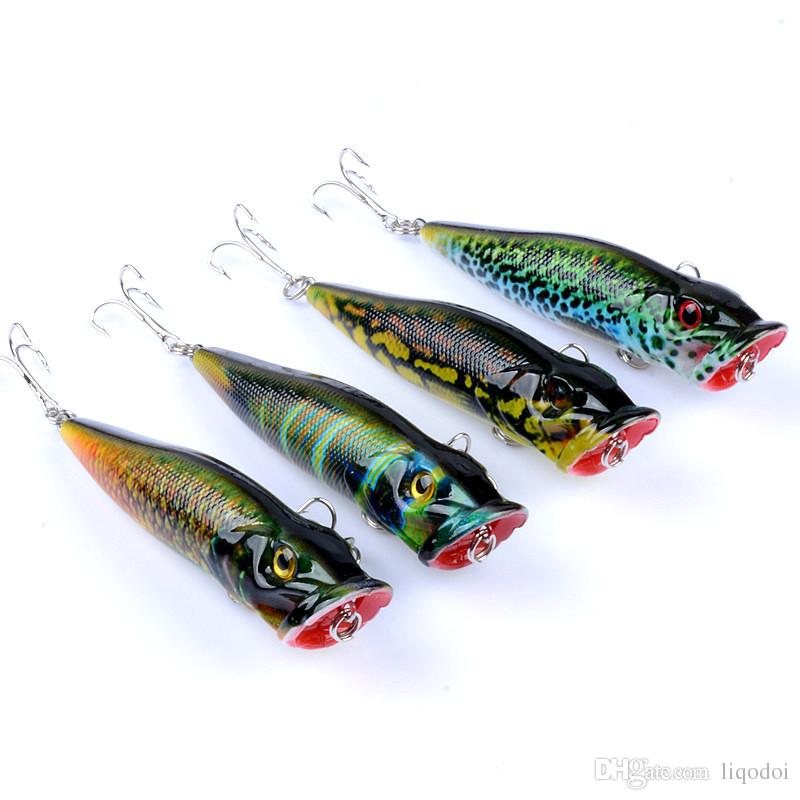 Popper Fishing Lures Wobblers Crankbaits Painting Series Hard Baits 9.5cm 12g