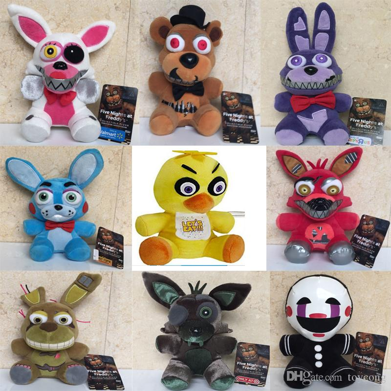 Neue Spielzeuge! 18cm FNAF Bär Foxy Stofftiere Cartoon Movie Five Nights At Freddy Plüschpuppe Kinderspielzeug
