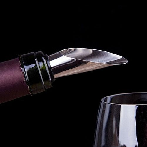 2018 HOT Stainless Steel Liquor Pourer Free Flow Wine Bottle Bar Tools with Stopper Set
