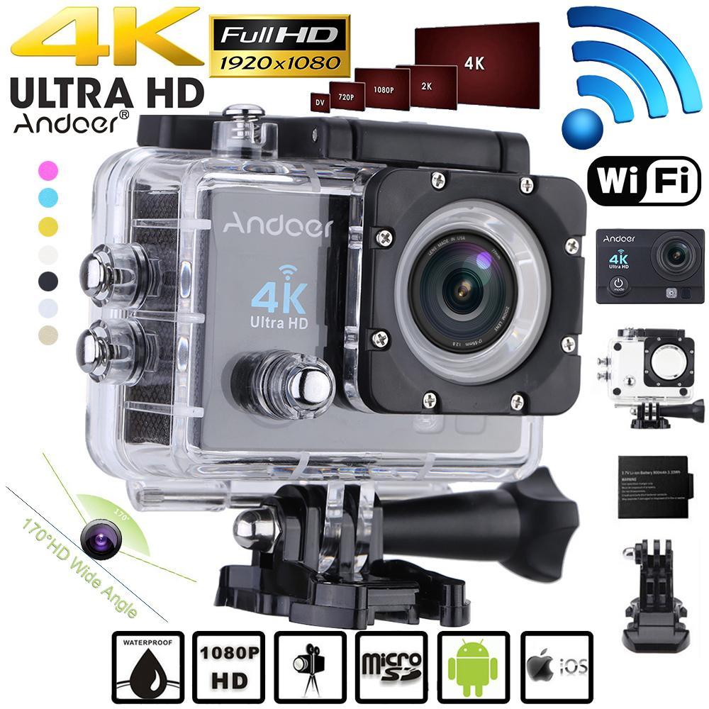 """vente en gros Q3H 2 """"ultra-HD LCD 1080P 4K caméra d'action Wifi 16MP 170 lentille grand angle sport DV avec boîtier vidéo étanche caméscope"""