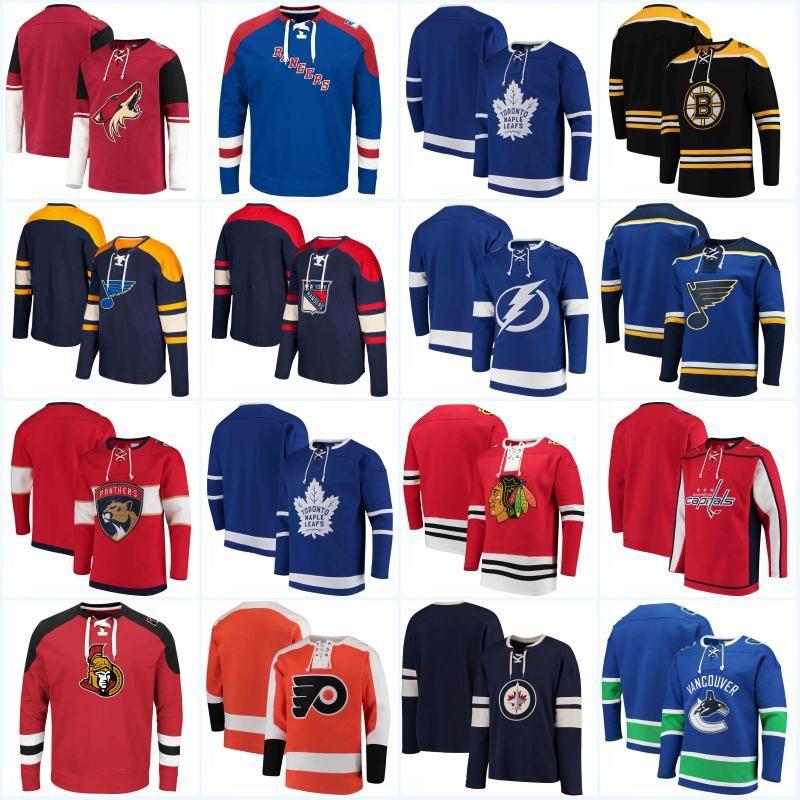 Hoodies New York Rangers Adalar Los Angeles Kings Minnesota Vahşi Hiçbir Şapka Kazak Montreal Canadiens New Jersey Devils Hokey Formalar