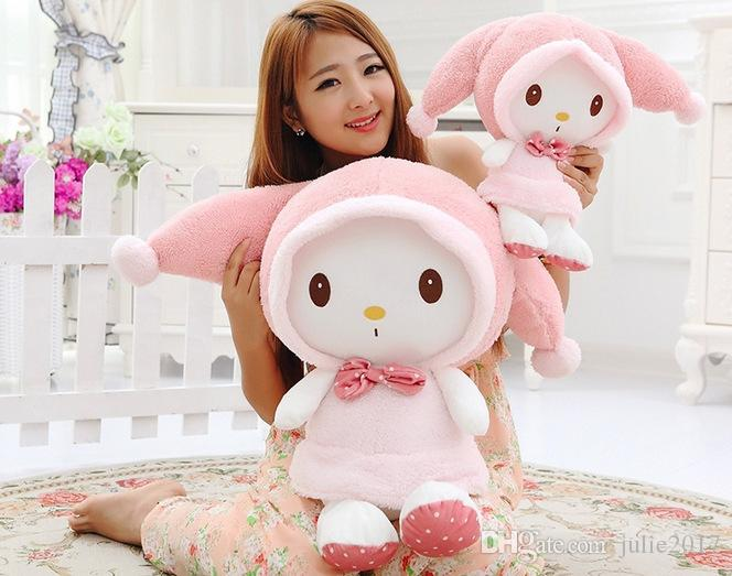 Novo Collectible Japan Edition Lucky Cat Maneki Neko Estilo Minha Melody Plush Toy Children Presentes de Natal