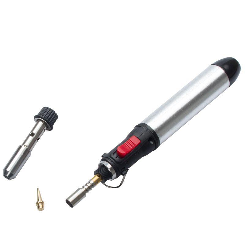 Freeshipping المحمولة اللاسلكي الغاز لحام الحديد لهب البوتان 12 ملليلتر الحرارة لحام بندقية لحام مشاعل أداة 1300 درجة معدات لحام