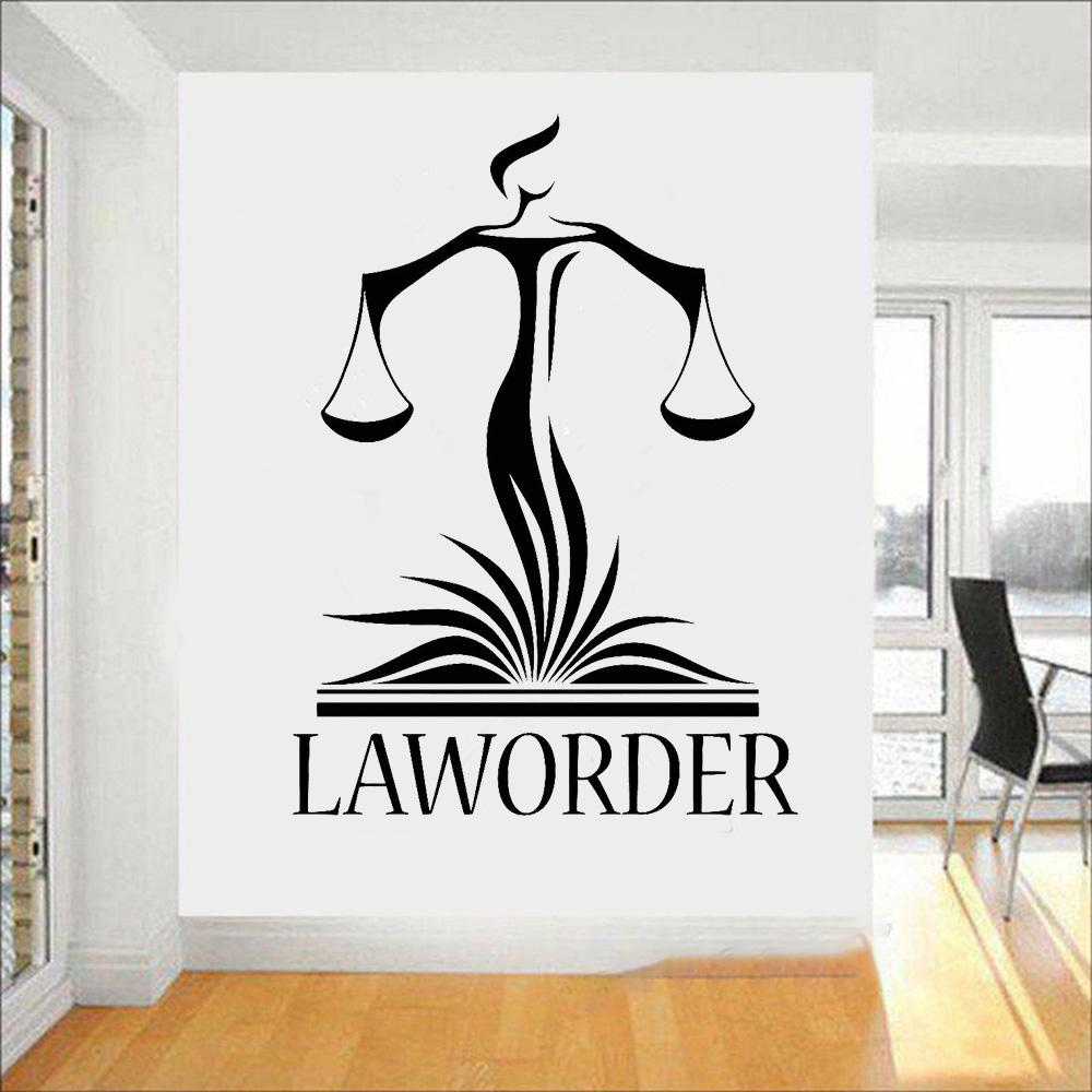 Law office wall decor decals lawyer justice libra court stickers modern home interior decoration wallpaper sticker art for walls sticker decals for