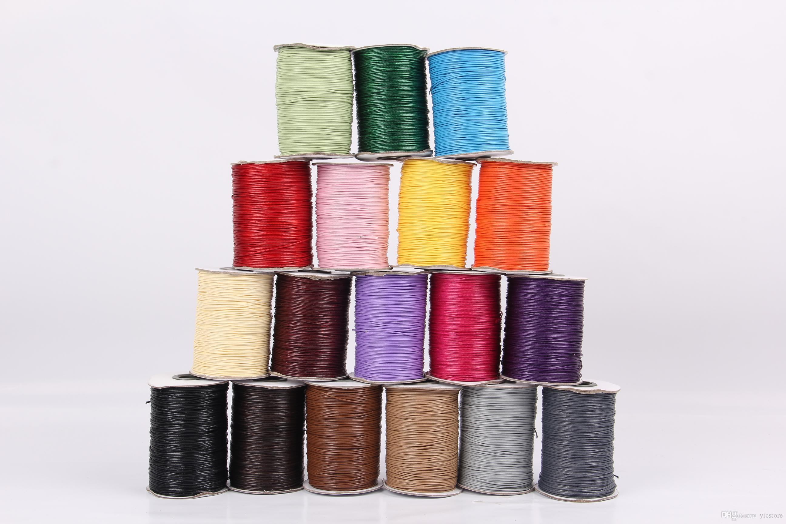1mm 200Yards high quality Waxed Cotton Cords For Wax Jewelry Making DIY Bead String Bracelet Sewing Leather Necklace