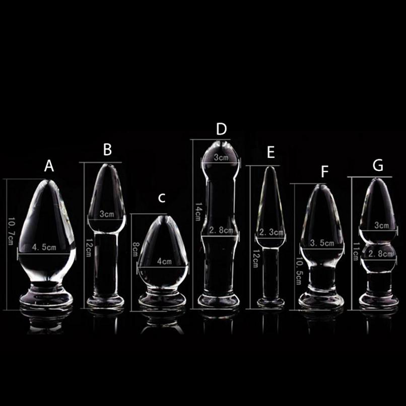 1PCS Stimulator Anal Dildo Women Plug For Erotic Anal Crystal Sex For Butt Adult Products Glass Couples Toy Glass Beads Bkigs