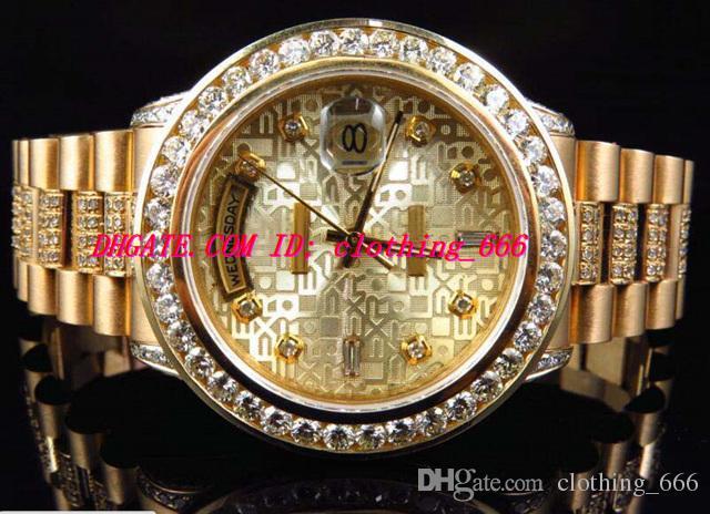 Luxury Wristwatch 18k Yellow Gold Mens Diamond Bezel Watch 36mm Automatic Men Watch Men's Watch Watches