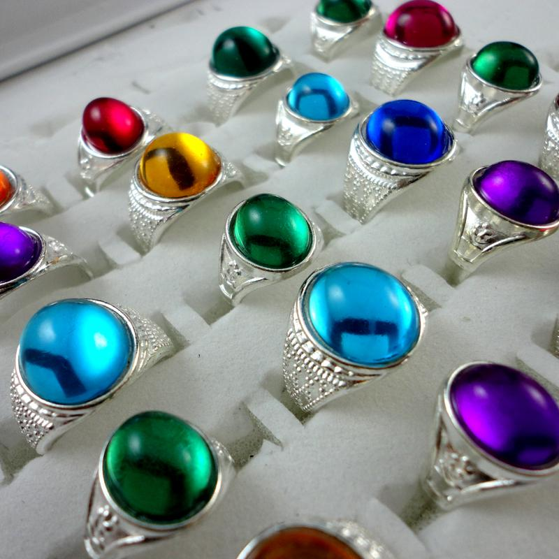 Mixed Color Silver Plated Crystal Ring For Children Boys Girls Wholesale Jewelry Rings Bulks Lots Hot Sale LR309