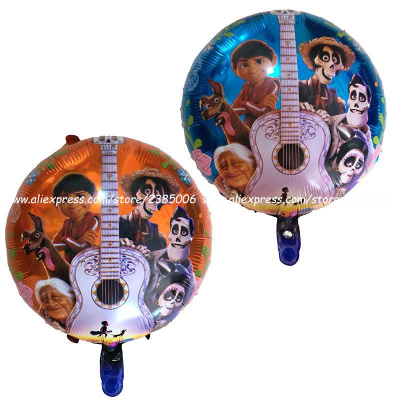 50pcs/lot Birthday party decorations foil Balloons Movie COCO Toys globos Children Day supplies Party balloon kid toys