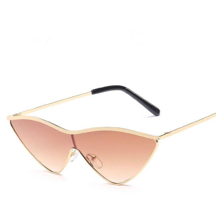 YENI Moda Güneş Gözlüğü Kadın Erkek Güneş Gözlükleri Anti-Uv Gözlükler Alışveriş Sürüş Seyahat için Yapışık Üçgen Gözlük Gözlüğü