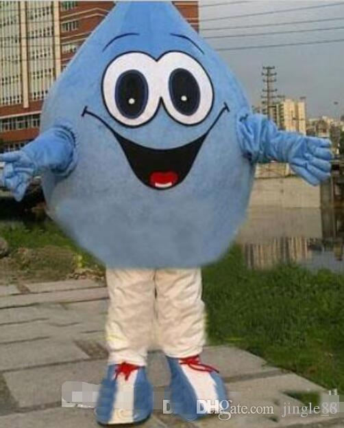 adult blue Water-drop Mascot costumes Fancy dress Cartoon Costumes Free shipping