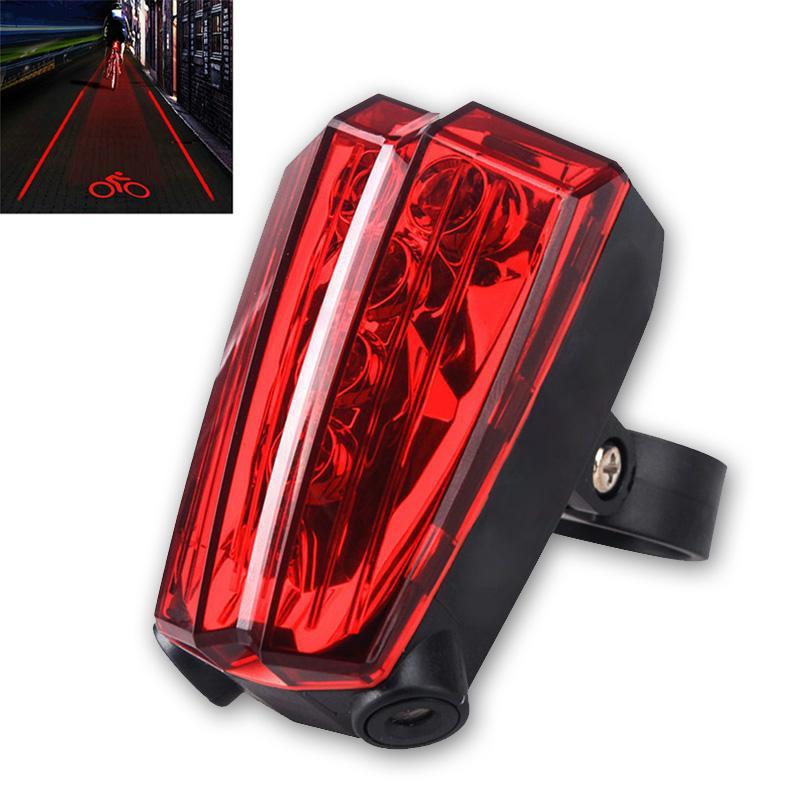 Bike Biycle Plastic 2 Laser Projector Safety Warning Flash Light Lamp AAA 3 Mode