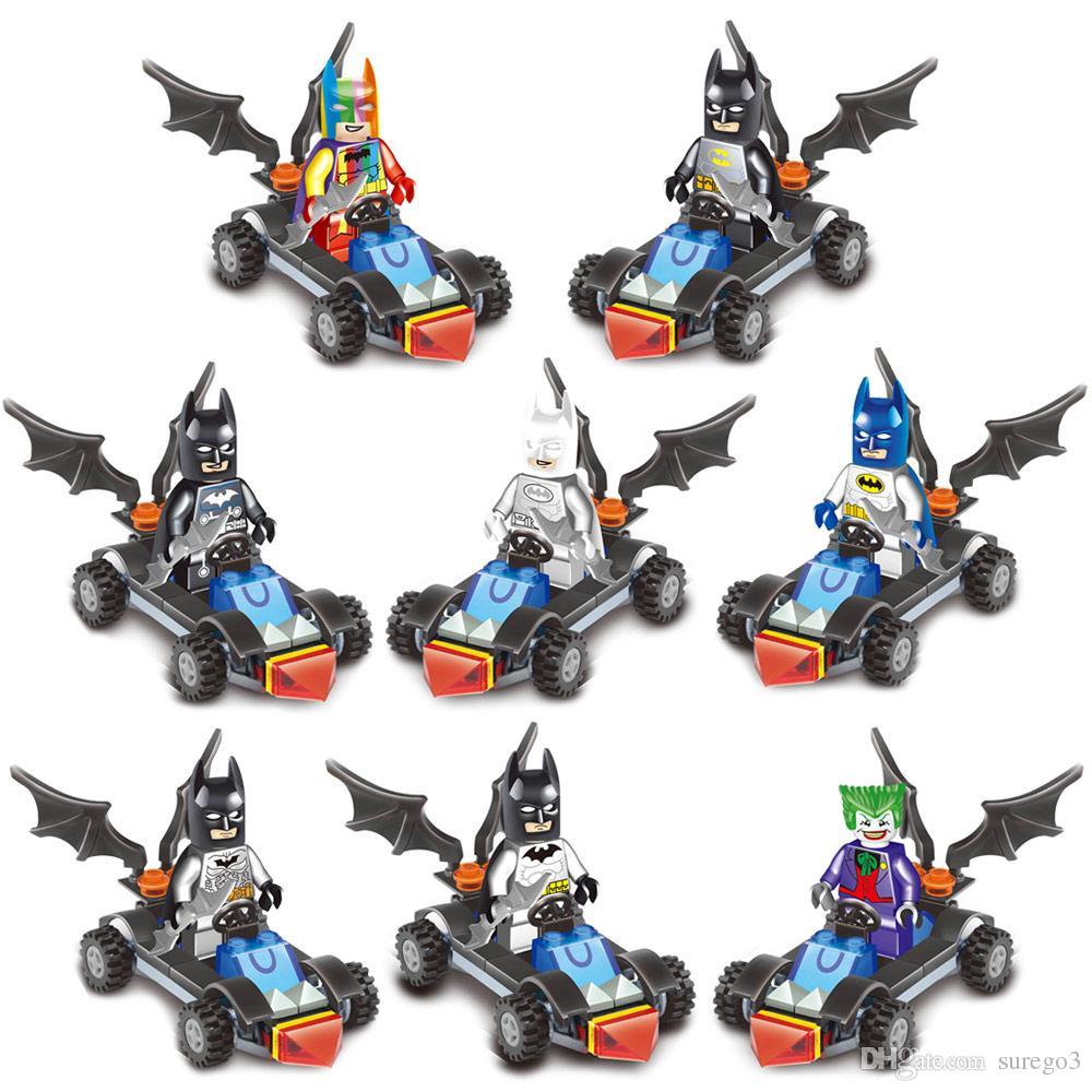 New arrival Avenger Super Hero Batman Batmobile Bat Tumbler Vehicle Fighter Toy Figure Building Block for Batman Fans and Children