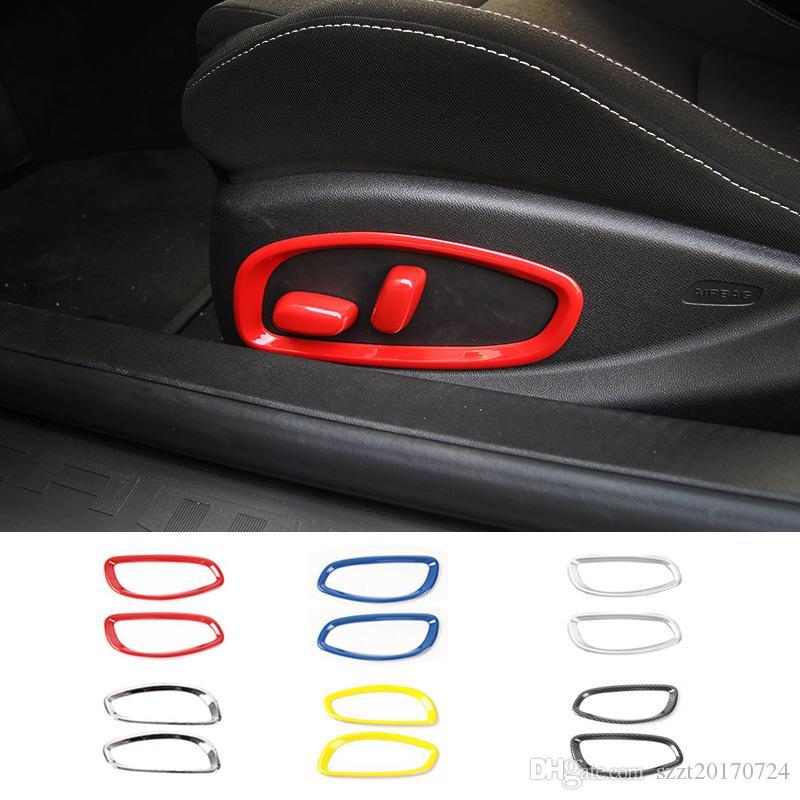 ABS Sitzverstellung Button Ring-Dekoration Zubehör für Chevrolet Camaro 2017 Up Car Styling Interieur Accessori