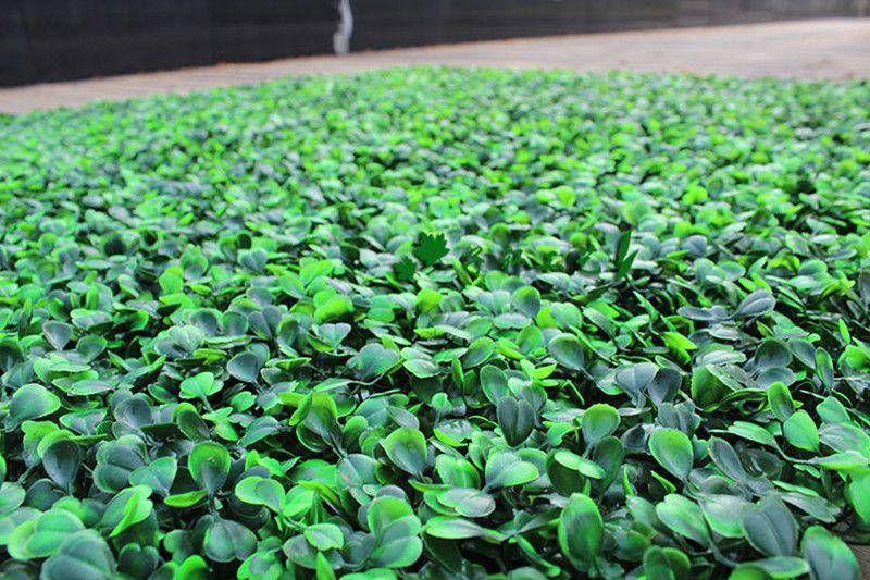 Оптовая 200pcs Искусственная трава пластиковые самшита мат подстриженными дерево Милан травы для сада, дома, магазин, свадьба украшения