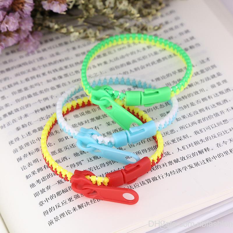Wholesale Brand New Fashion Ol Candy Color Bracelet Personality Zipper Bracelet creative designer bracelets for sale