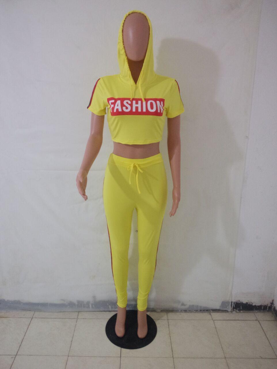 Mulheres por atacado Two Piece Set Treino Comprimento Completo Carta 2 Peça Set Treino Outfit Roupas de Verão Listrado Outfits Outfits