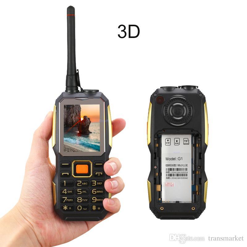Oeina G1 Rugged Torch Phone Senior old man mobile phone Power bank Loud Speaker bluetooth walike talkie UHF Radio PTT 3800mAh Big battery