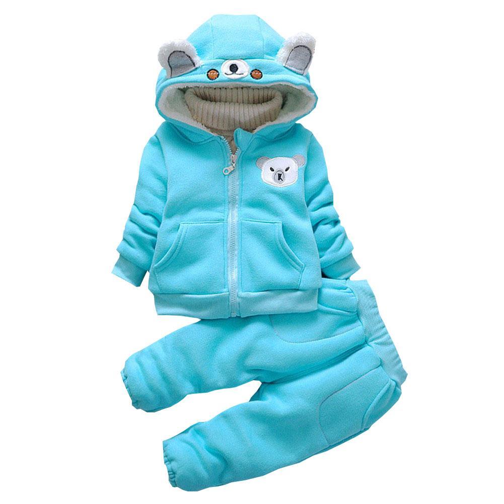Мальчики одежда наборы Осень Зима дети толстый теплый бархат одежда наборы мультфильм спортивный костюм для детей мальчики флис спортивный костюм