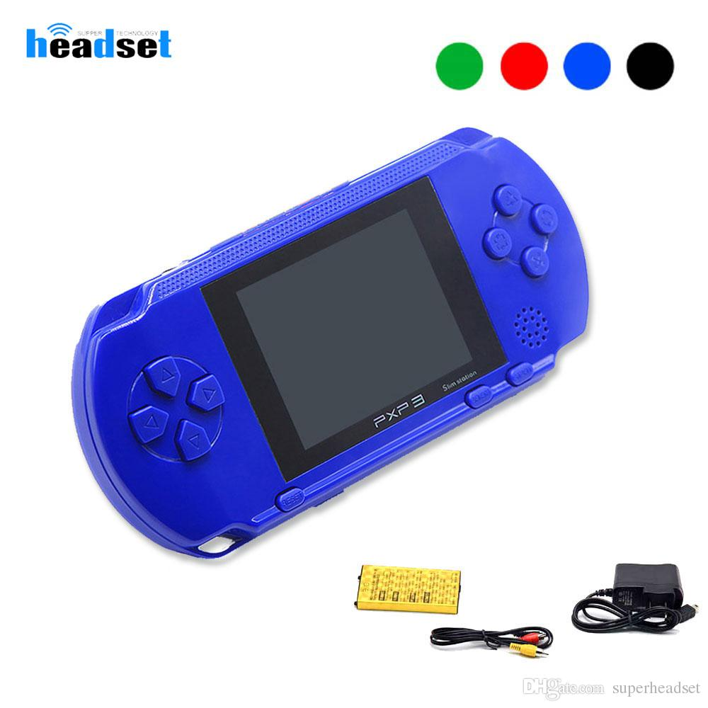 pxp3 Game-Spieler 2,8-Zoll-16-Bit-Slim-Station-TV-Videospiel-Player-Handheld-Gamecontroller Console Classic Games